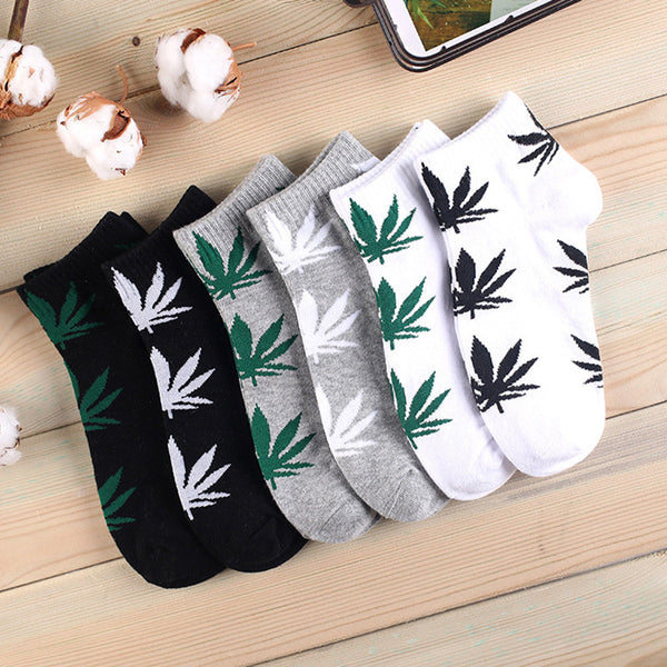 Weed Ankle Socks for Men and Women