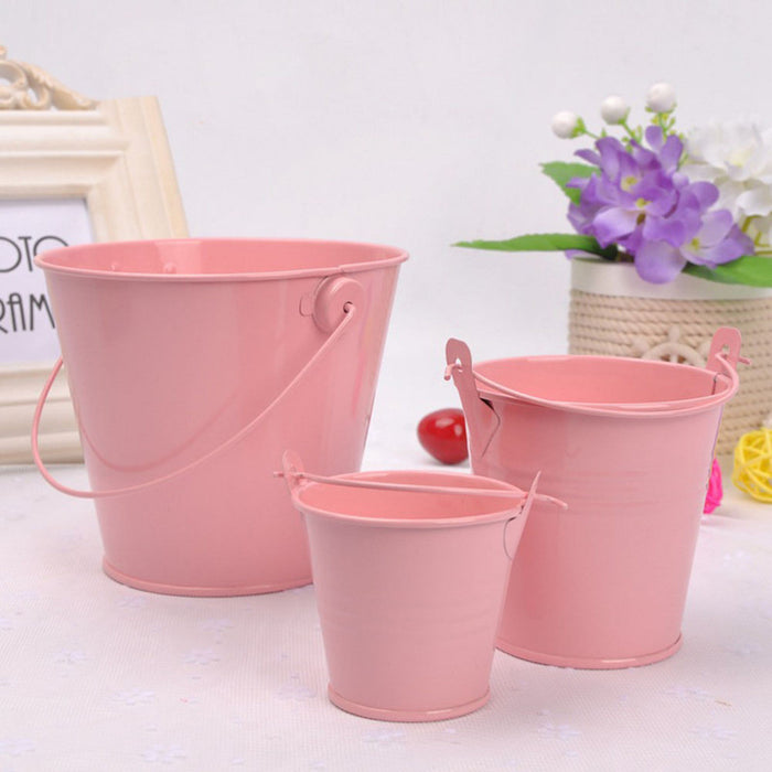 Colored Metal Iron Bucket Type Flower Pot