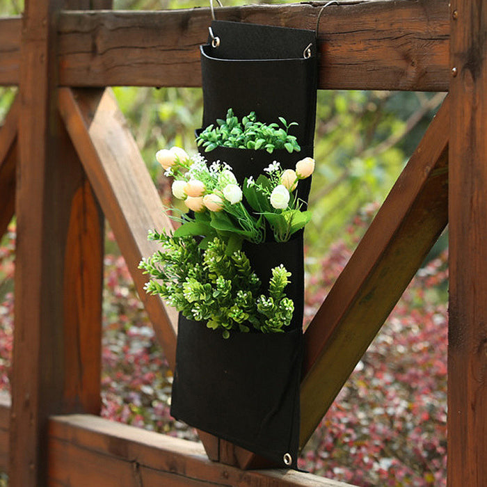 Black Hanging Flower Planting Bag
