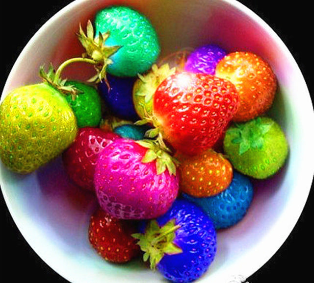 Rainbow Colored Magical Strawberries Seeds