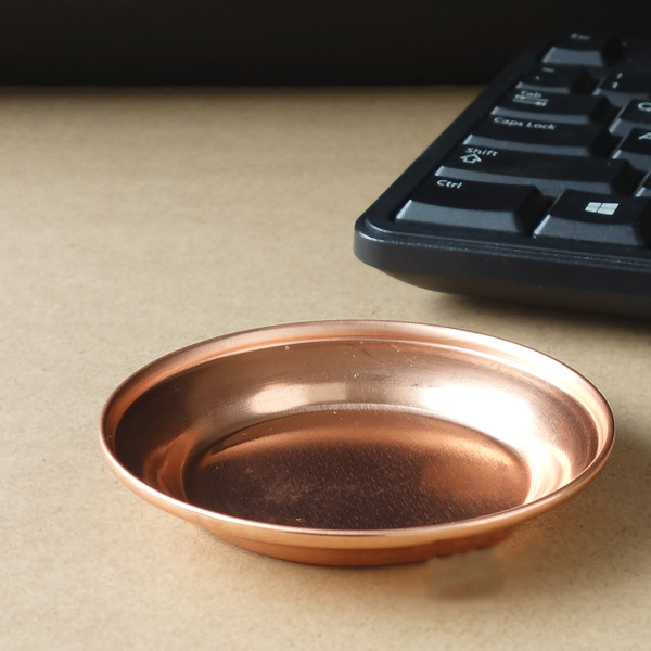 Mini Debris Copper Flower Pot Tray