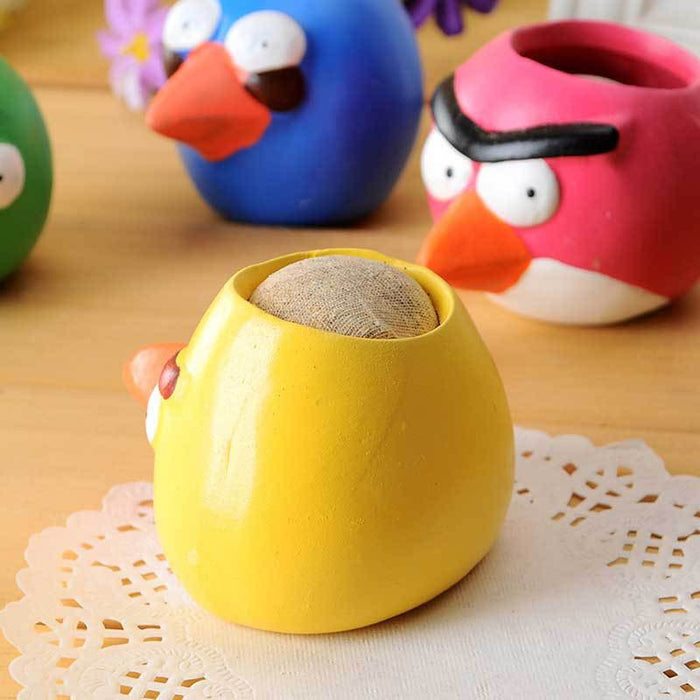 Angry Bird gardening mini ceramic flower pot