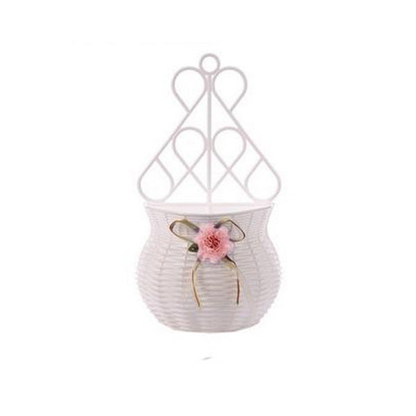 Handmade Flower Basket wall mount vase