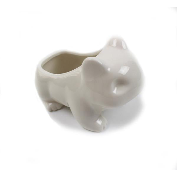 Pokemon Bulbasaur green/white Ceramic Flowerpot