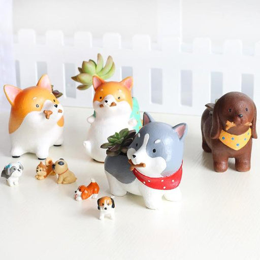 Tiny Cute Dog Flower Pots