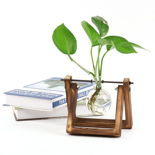 Wooden Stand Glass Terrarium Planter-Rama Deals