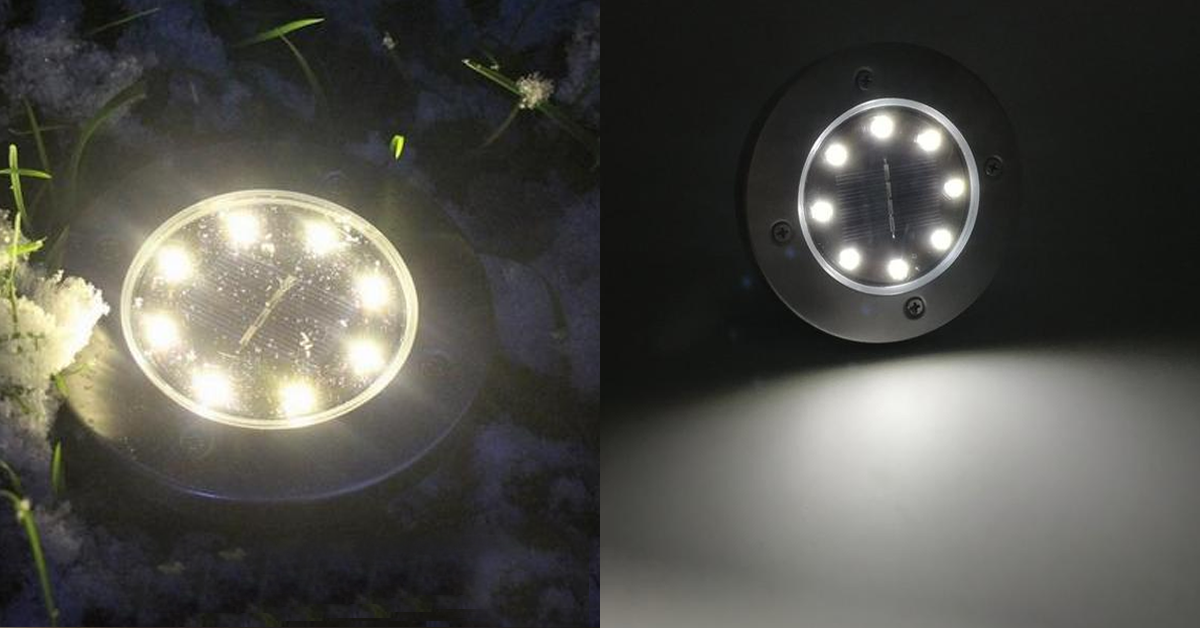 Solar Powered Floor Path Led Light (4 Pack)