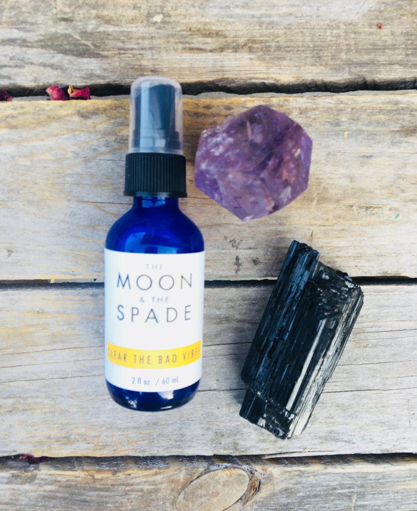 Clear the  Bad Vibes Spray, Empath Protection, Palo Santo Spray