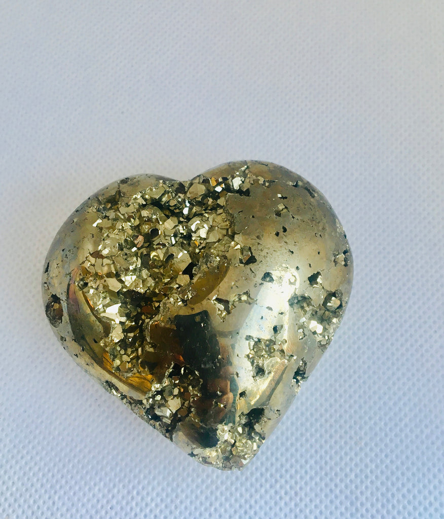 Heart Shaped Pyrite Druzy, Pyrite Crystal, Pyrite Stone, Healing Crystal, Stones for Abundance Money, Chakra Healing, Meditation Stone