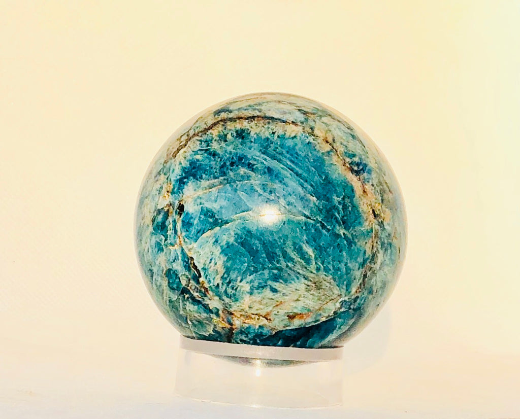 Blue Apatite Polished Sphere, Blue Apatite Healing Crystal, Healing Stones, Crystal Ball