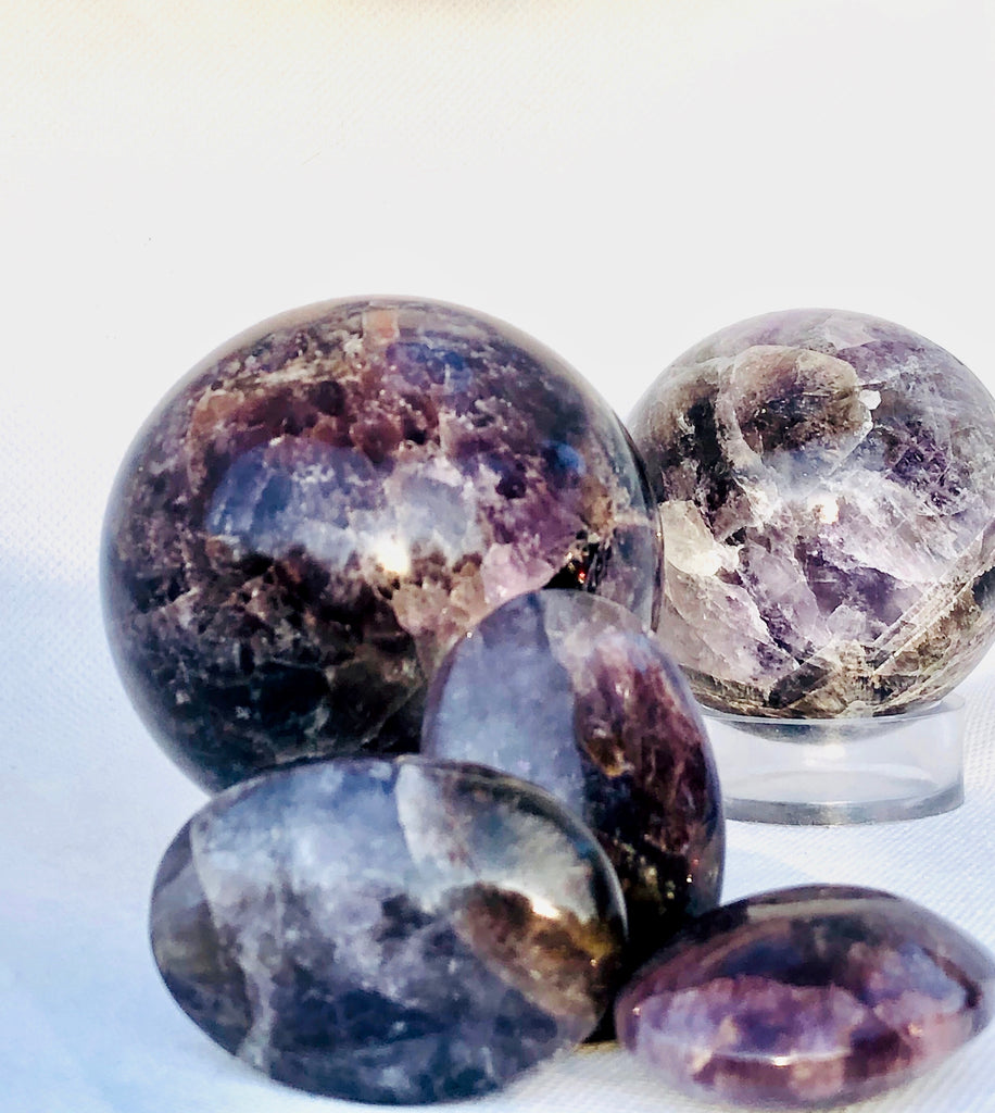 Super 7 Seven Melody Stone Polished Sphere, Crystal Ball, Healing Crystals, Healing Stones, Spheres