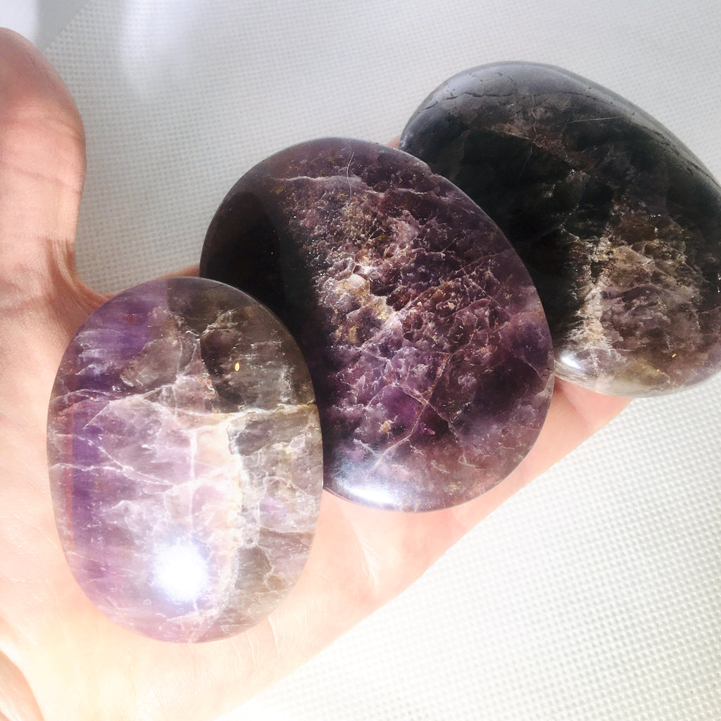 Super 7 Seven Healing Crystal Palm Stone, Melody Stone, Medium Palm Stone