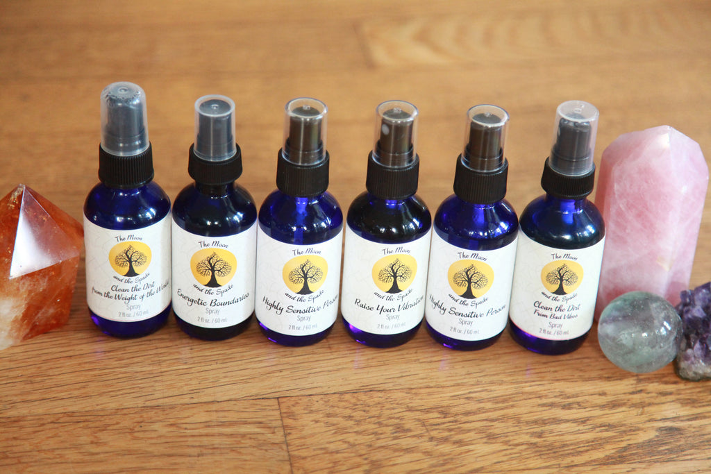 Raise Your Vibration Spray, Herkimer Diamond Gem Elixir, Essential Oil Blend, Manifesting Spray