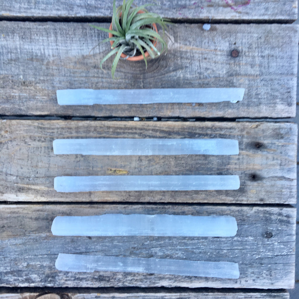 High Vibrational Selenite Wands Clear Your Auric Field, Raw Selenite, Healing Crystals