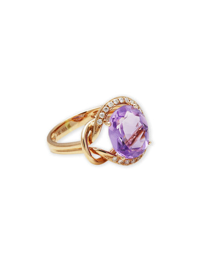 Gem On Signature Amethyst Rose Gold Ring