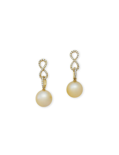The Blues Gold South Sea Pearl Earrings