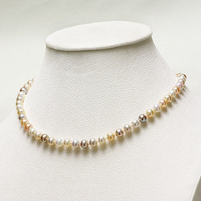 Exotic of Hyriopsis Pastel Hue Freshwater Pearl Necklace