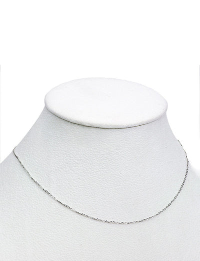 Cable Link White Gold Chain