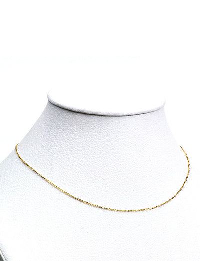 Anchor Link Yellow Gold Chain