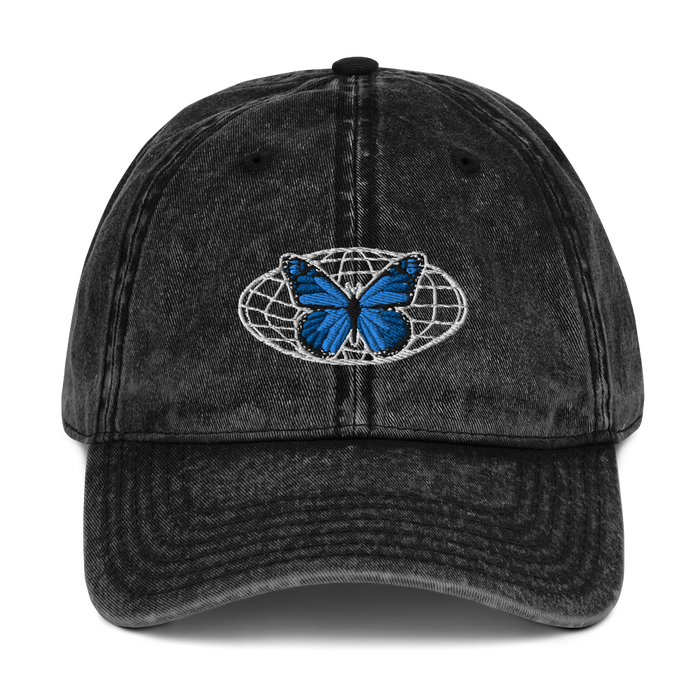 butterfly vintage dad hat