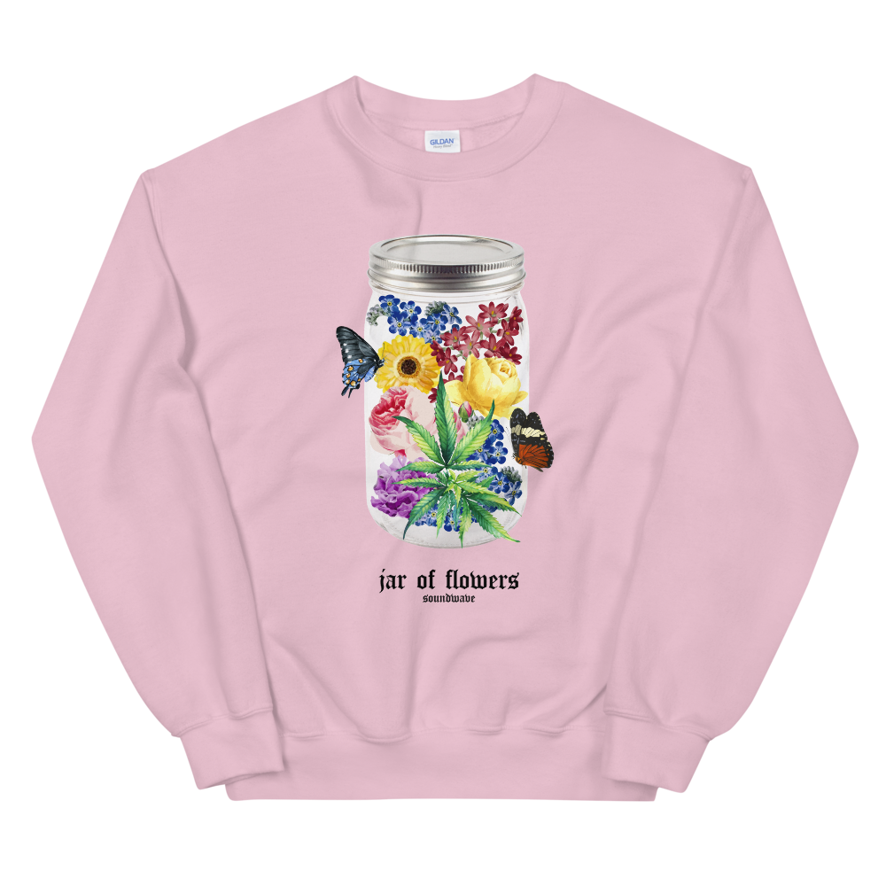 jar of flowers crewneck