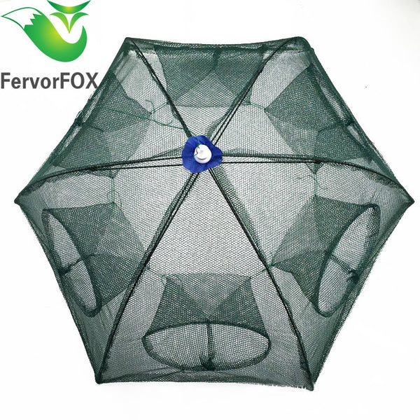 Portable Hexagon 6 Hole Fish Trap