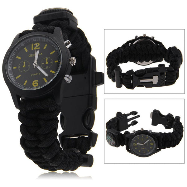 Camo Paracord 555 Survival Watch