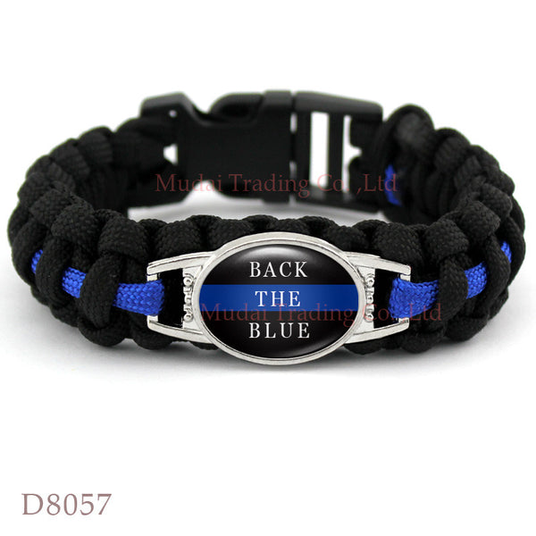 BACK THE BLUE Paracord Survival
