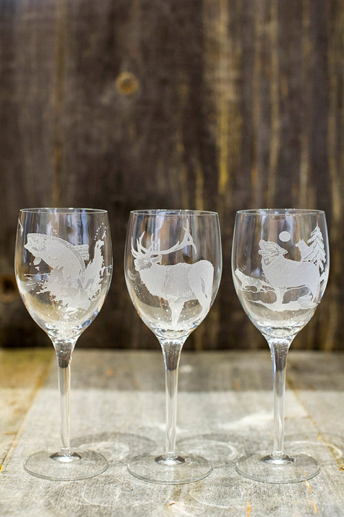 Crystal White Wine Glasses