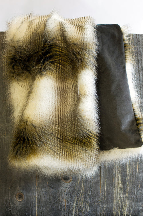 Alaskan Hawk Faux Fur Throw