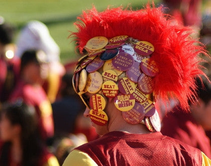 Fans of USC Trojans Watches Athletics