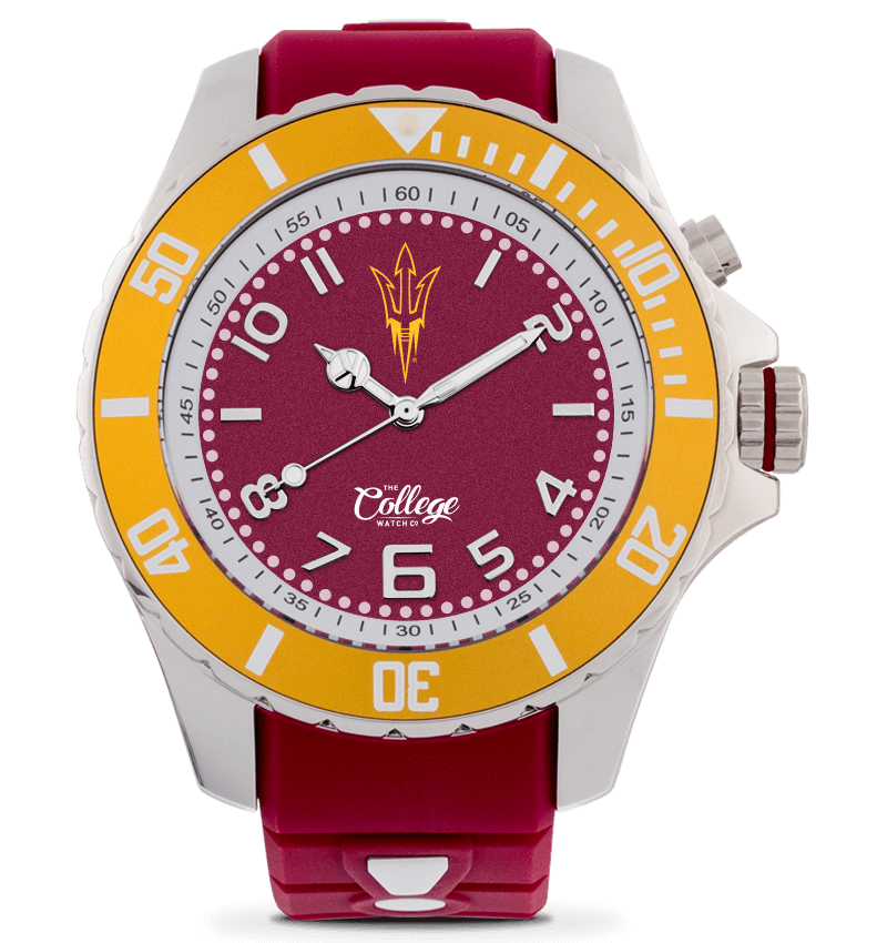 Arizona State Sun Devils Watch - 48mm - Silver Edition