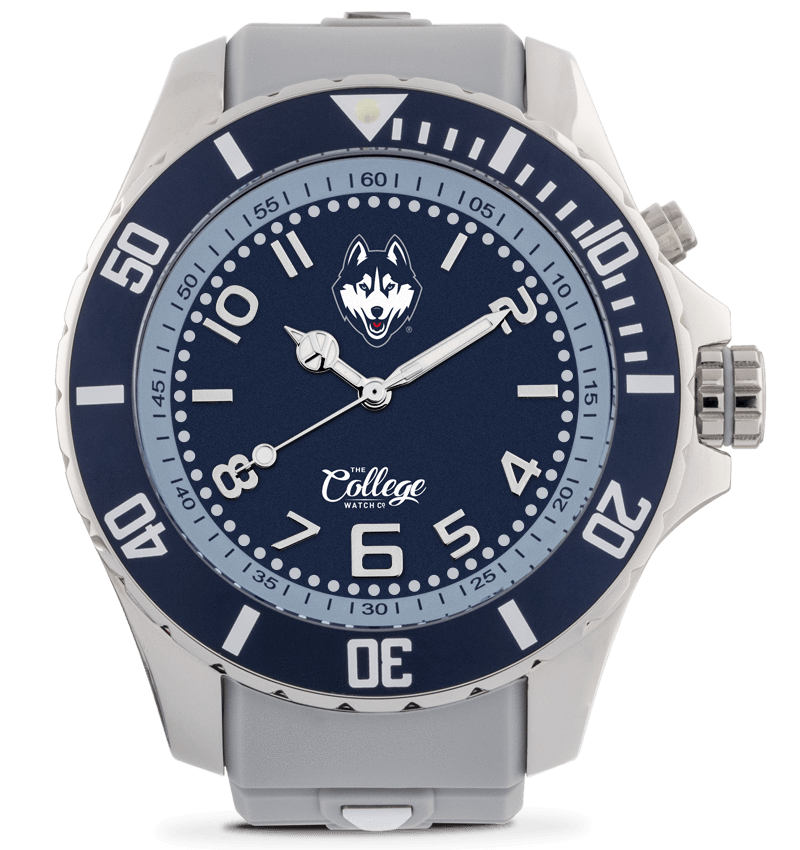 UConn Huskies Watch - 55mm - Silver Edition