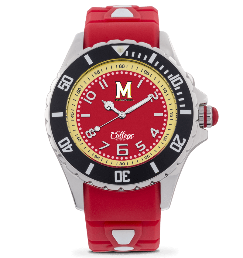 Maryland Terrapins Watch - 40mm - Silver Edition