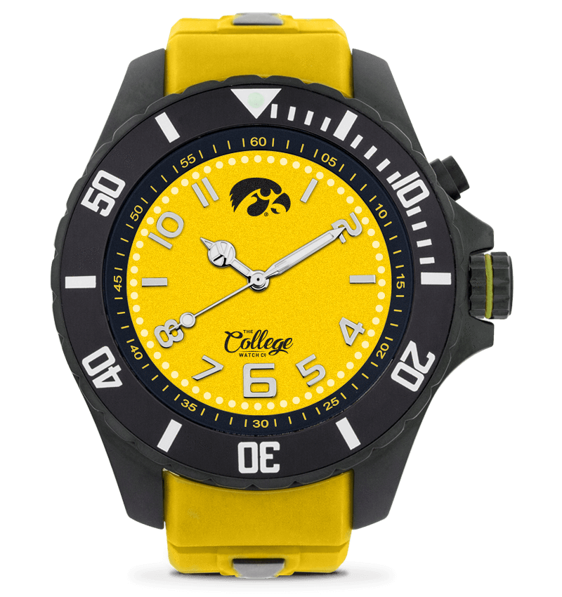 Iowa Hawkeyes Watch - 48mm - Silver Edition