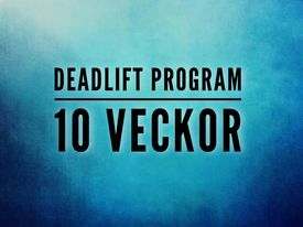CrossFit Göta 10 Veckors Deadlift program