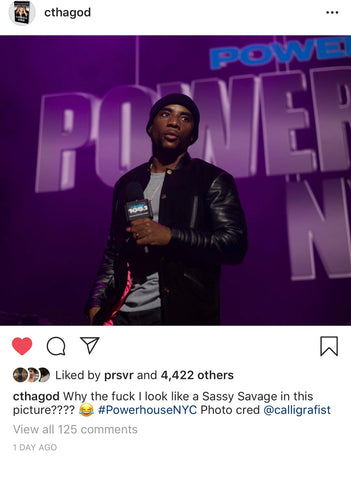 Charlamagne tha God in PRSVR Lab Coat