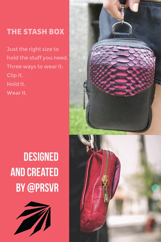 The PRSVR stash box bag