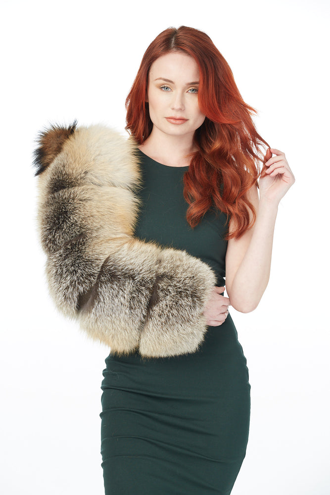 Single Layered Fur Sleeve (Golden Fox and Mink)