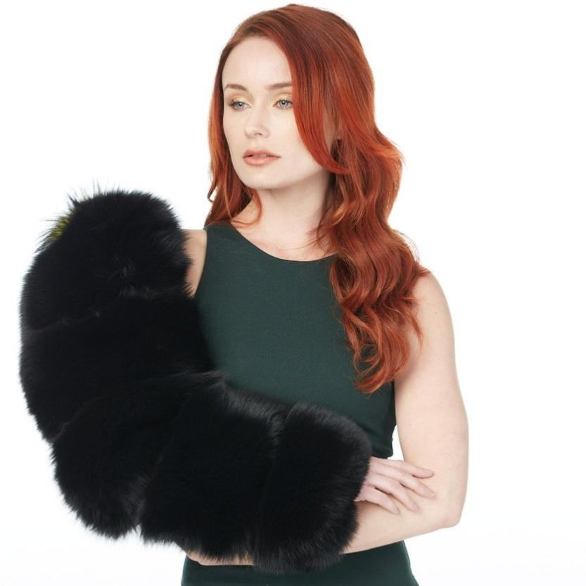 Single Layered Fur Sleeve (Black Fox and Mink)