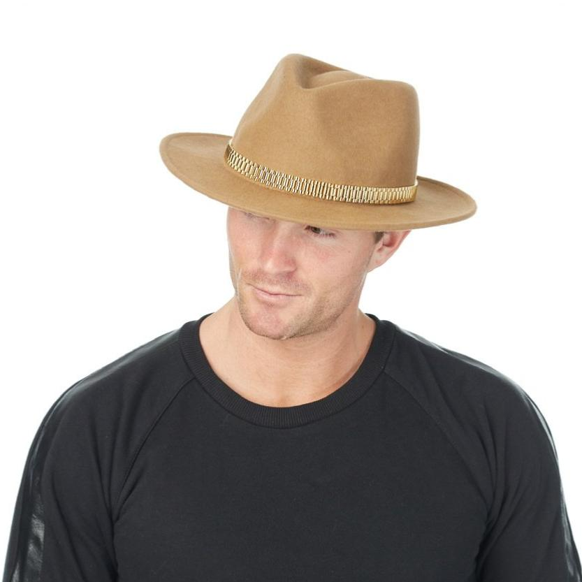 The PRESII: Beige Fedora Hat