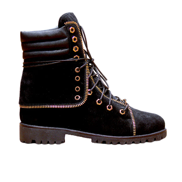 Elevated Hiker Boots (Black)