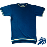 Drop Neck (Navy w/Beige Contrast)