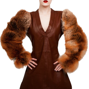 Load image into Gallery viewer, Double Fur Sleeves (Natural Red Fox)
