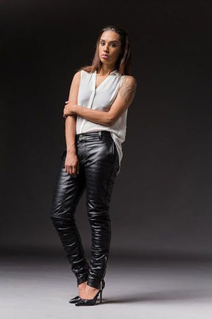 Load image into Gallery viewer, Leather Ski Pants