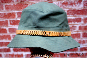 Olive Bucket Hat with Gold Presidential Band PRSVR