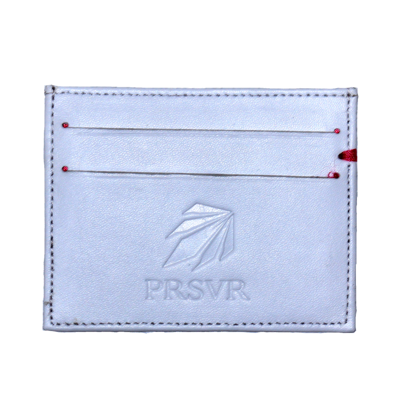 White Cash and Carry Card Holder/Wallet