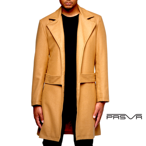 Cashmere Wool Blend Trench Coat (NO FUR)