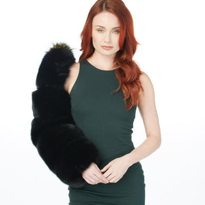 Load image into Gallery viewer, Single Layered Fur Sleeve (Black Fox and Mink)