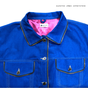 Tiger Teeth Trucker Jacket (Persevere Blue)